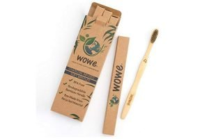 One of the best bamboo toothbrushes with charcoal infused bristles