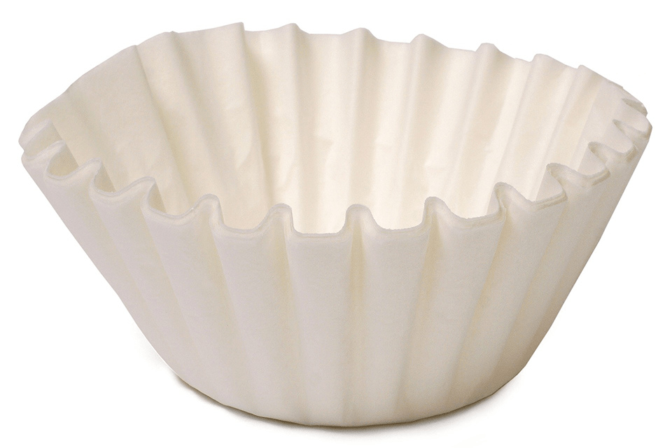 Coffee filter isolated on the white background